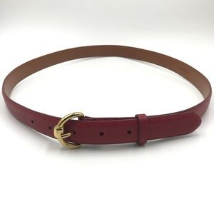 LAUREN Ralph Lauren Womens Belt L Red Skinny Style